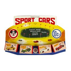 Miniature Sports Cars Store Display by Marx.
