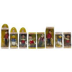 Collection of (8) Disney Twistables by Marx.