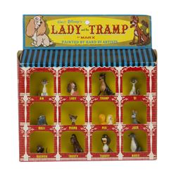 Lady and the Tramp Hand Painted Set by Marx.
