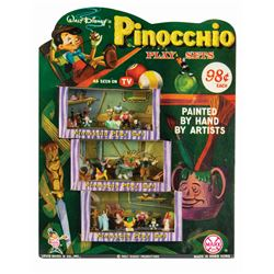 Pinocchio Play Sets Store Display by Marx.