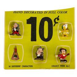 Set of (4) Disneykins on Display Card.