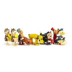 Collection of (5) Walt Disney Walkable Toys by Marx.