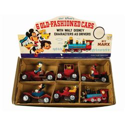 Walt Disney Character Friction Car Display Box by Marx.