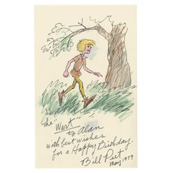 The Sword in the Stone Wart Drawing by Bill Peet.