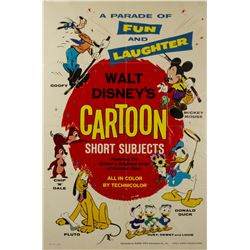Walt Disney's Cartoon Short Subjects One Sheet Poster.