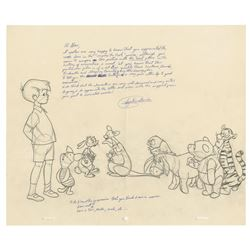 Original Winnie the Pooh Drawing by Ayalen Garcia.