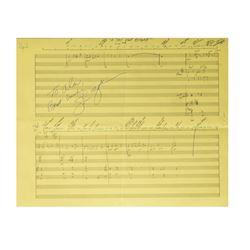 Winnie the Pooh Hand-Written Sheet Music.