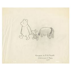 Original Winnie the Pooh Drawing by Spencer Peel.
