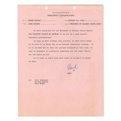 Walt Disney Productions Inter-Office Communication.