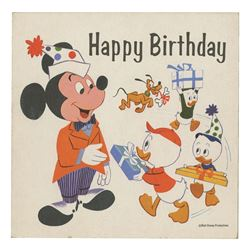 Mickey Mouse Birthday Card with Playable Record.
