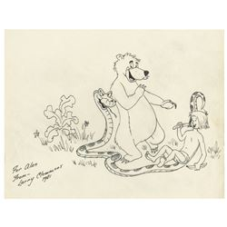 Original The Jungle Book Drawing by Larry Clemmons.