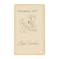 Original Scrooge McDuck Drawing by Carl Barks.