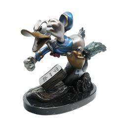 Self Control Donald Duck Bronze Statue.