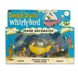 Donald Duck's Whirly-Bird Figure Set in Box.