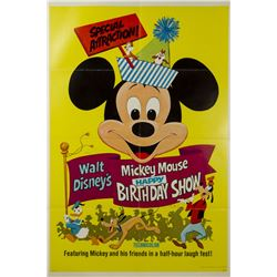 Mickey Mouse Happy Birthday Show One Sheet Poster.