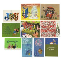 Complete Set of 1960s Disney Studio Christmas Cards.