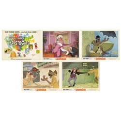 Set of (5) The Aristocats Lobby Cards.