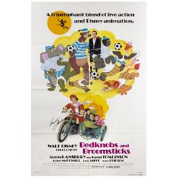 Bedknobs and Broomsticks Re-Release Signed Poster.