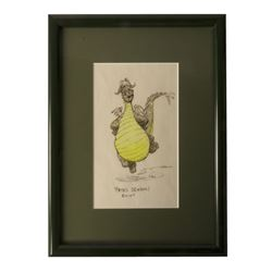 Original Pete's Dragon Elliot Drawing by Ken Anderson.