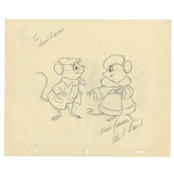 Original Bernard & Miss Bianca Drawing by Dale Baer.