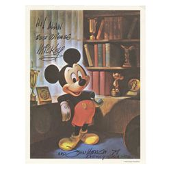 Mickey Mouse Postcard Signed by John Hench.