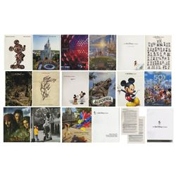 Group of (17) Walt Disney Productions Annual Reports.