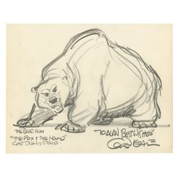 Original The Fox and the Hound Drawing by Glen Keane.