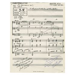 Mickey's Christmas Carol Signed Sheet Music.