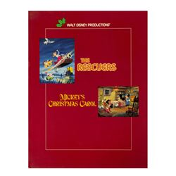 Mickey's Christmas Carol & The Rescuers Signed Program.