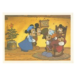 Mickey's Christmas Carol Signed Postcard.