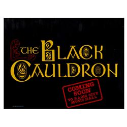 The Black Cauldron Radio City Music Hall Poster.