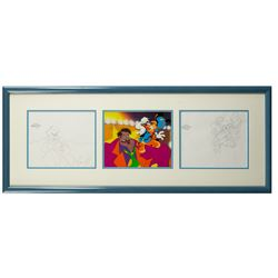 Original Bonkers Production Cel & (2) Drawings.
