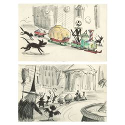 Pair of The Nightmare Before Christmas Storyboards.