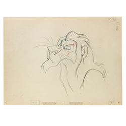 Original The Lion King Scar Animation Drawing.