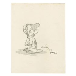 Original Dopey Drawing by Toby Bluth.