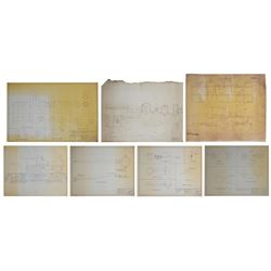 Set of (7) Ollie Johnston's Personal Train Blueprints.