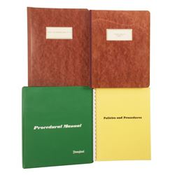 Set of (3) Cast Member Procedure Manuals with Binder.