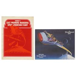Cast Member Space Mountain Inaugural Flight Folder.