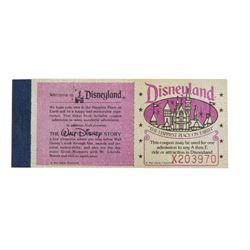 5 Adventures in Disneyland Courtesy Ticket Book.
