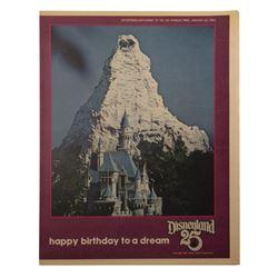 Disneyland 25th Anniversary Newspaper Supplement.