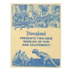 Disneyland New Attractions Gate Flyer.