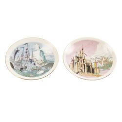 Pair of Small Ceramic Souvenir Wall-Hanging Plates.