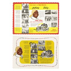 Pair of Aunt Jemima's Pancake House Placemats.