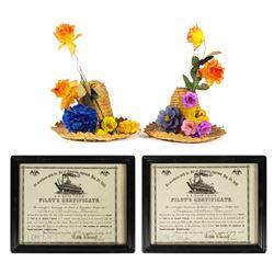 Pair of Walt Disney Signed Mark Twain Certificates.