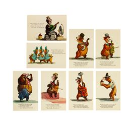 Set of (8) Country Bear Jamboree Postcards.