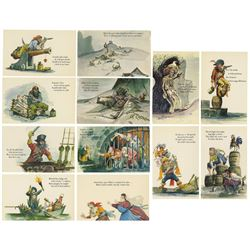 Complete Set of (12) Pirates of the Caribbean Postcards