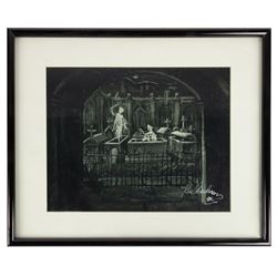 Haunted Mansion Ken Anderson Signed Concept Print.