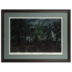 Haunted Mansion Multi-Signed Limited Ed. Concept Print.