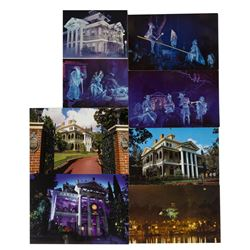 Set of (7) Haunted Mansion Postcards.