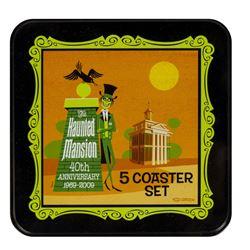 Set of (5) Haunted Mansion Shag Coasters.